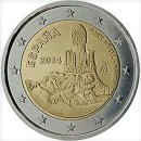 Spanien 2014 2 Euro Münze Gaudi UNESCO Park Guell