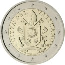 Vatikan 2 Euro Kursmünze Wappen ab 2017