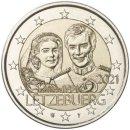 Luxemburg 2021 2 Euro Hochzeit Maria Teresa und Henri