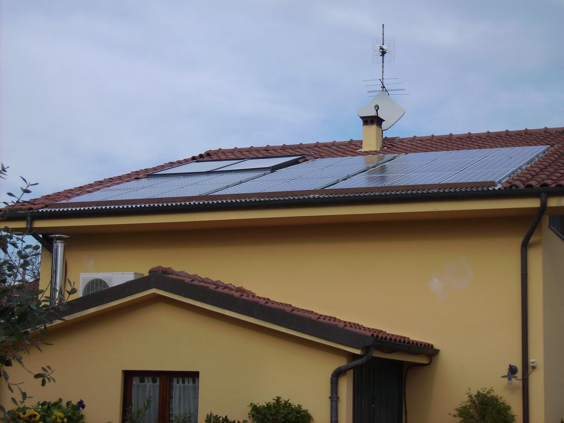 Komponenten der Solaranlage