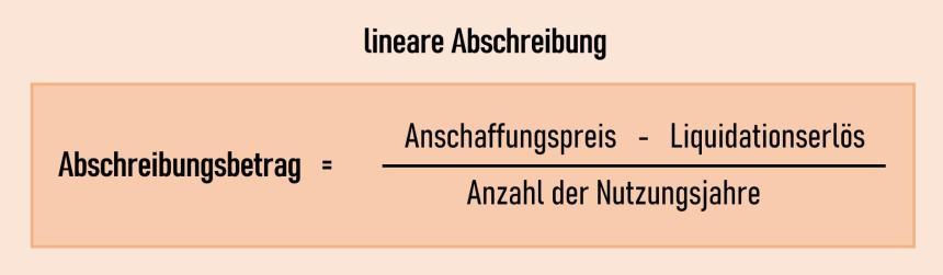 lineare Abschreibung Formel