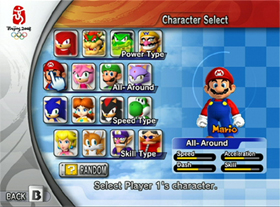 Characters In Mario Amp Sonic Olympics