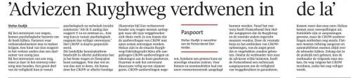 2 juli 2016 Adviezen Ruyghweg verdwenen in de la