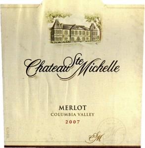 Chateau Ste Michelle merlot 2005