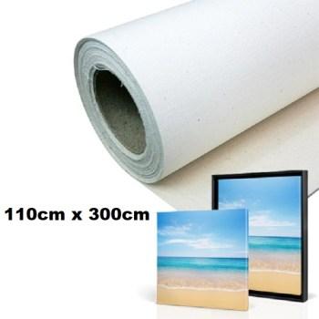 Maliarske plátno. Farba- biela. Zloženie- 100% bavlna. Gramáž- 380g/m2 Rozmer: 110cm x 300cm.