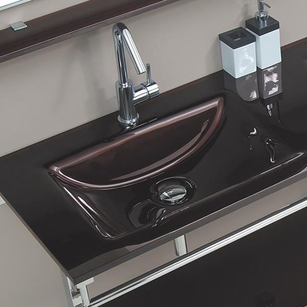 meuble de salle de bain marron aida