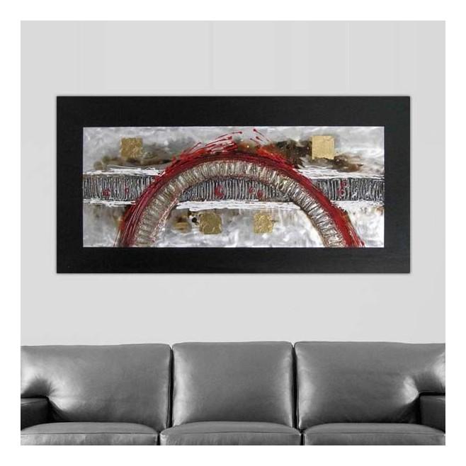 Tableau Design Toile Panoramique Arche 120 X 60 Cm