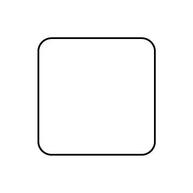 Square round corners
