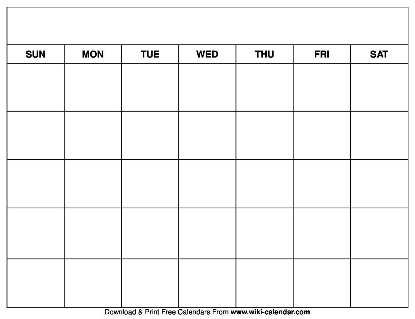 Printable Blank Calendar Templates On We Heart It