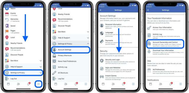 How to deactivate or delete your Facebook account?