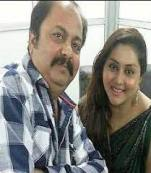 Namitha with her father