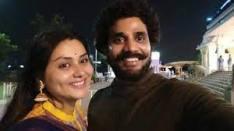 Namitha with her husband