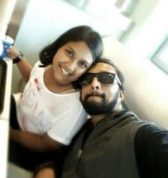 Sudeep with his daughter