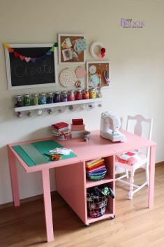 cuarto costura blanco y rosa
