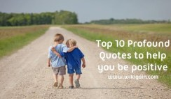 10 Profound Quotes help you be Positive
