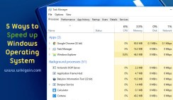 5 ways to Speed up Slow Windows PCs