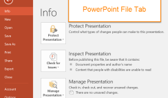 File Tab in PowerPoint 2016