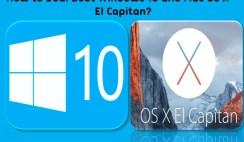 How to Dual Boot Windows 10 and Mac OS X El Capitan