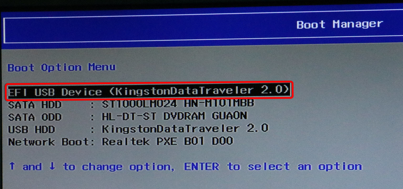 Lenovo ideapad boot from usb
