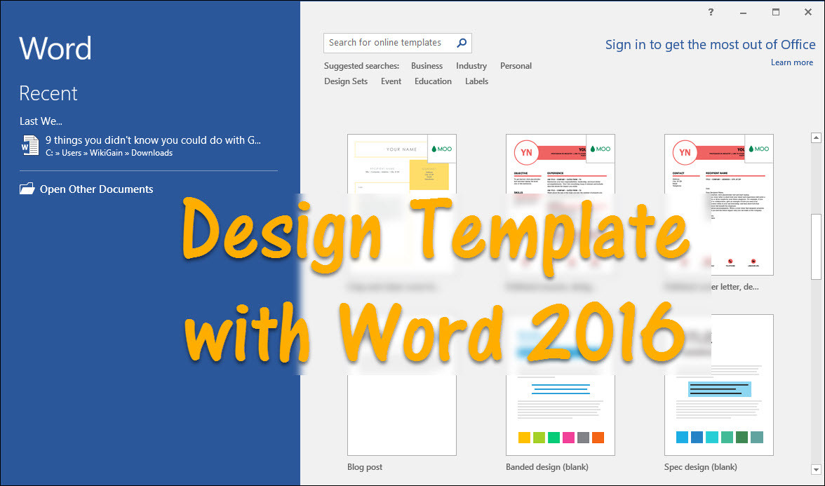 How To Design Template With Word Wikigain - Word website template