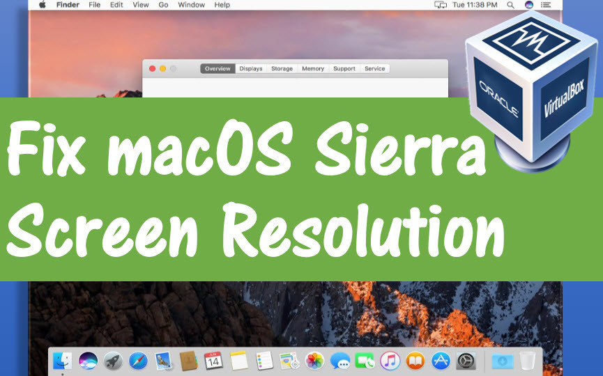 vmware macos resolution