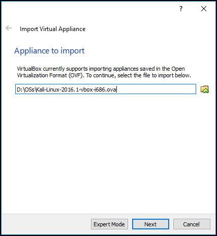 Working with VirtualBox Appliances