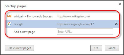 How to Set a Custom Web Page on any browser's Startup?