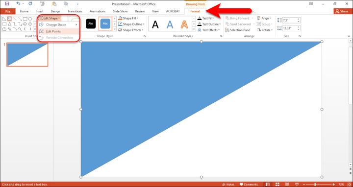 How to Create a Slide with Custom Shapes on PowerPoint 2016?