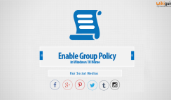 How to Enable Group Policy on Windows 10 Home Editions? -Gpedit.Msc