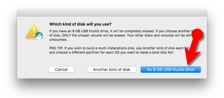 Create bootable USB Installer for macOS Sierra with DiskMakerX