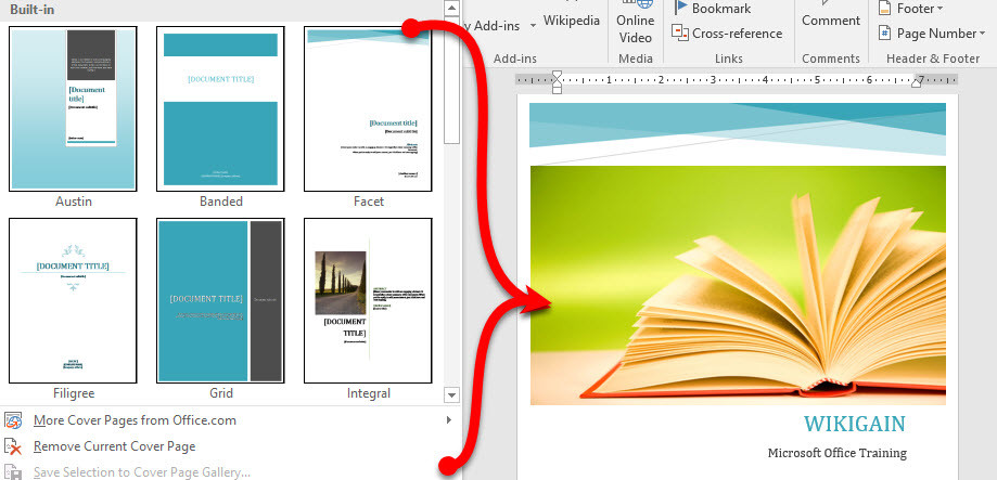 Insert Bookmarks and Cross Reference in Microsoft Word 2016 - wikigain
