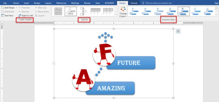 How to Create Smart Art Graphic in Microsoft Word 2016