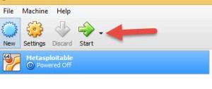Click on Start button
