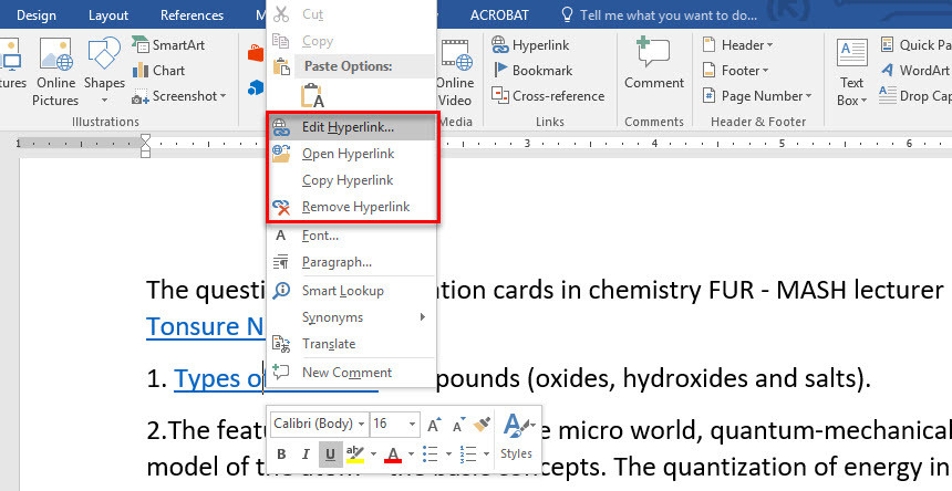 how to add heading 2 in word 2016