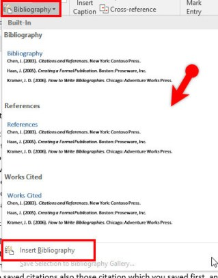 Create Citations-Bibliography in Microsoft Word 2016