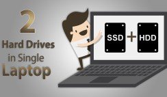 how to set or install two hard drives on a single laptop
