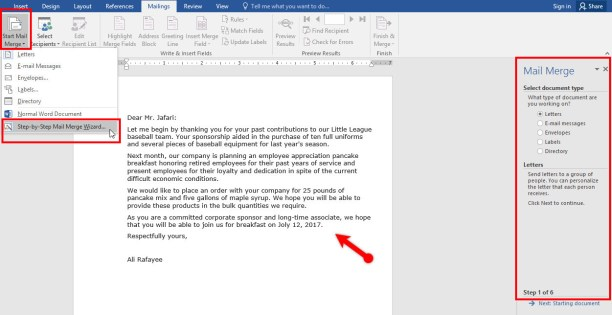 Use Mail Merge-Create-Send Envelopes in Microsoft Word 2016