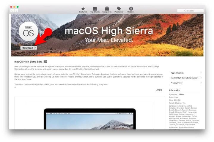 Download macOS High Sierra Free