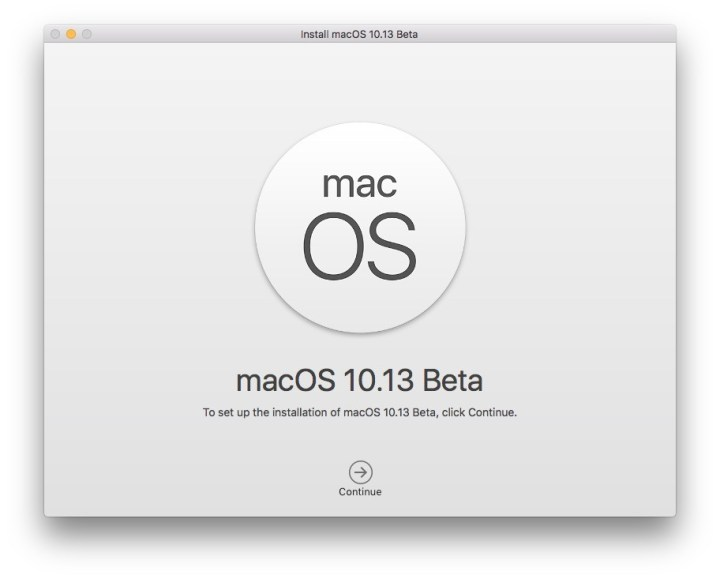 macOS High Sierra 10.13 Beta