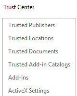 How to Use Trust Center in Microsoft Office 2016