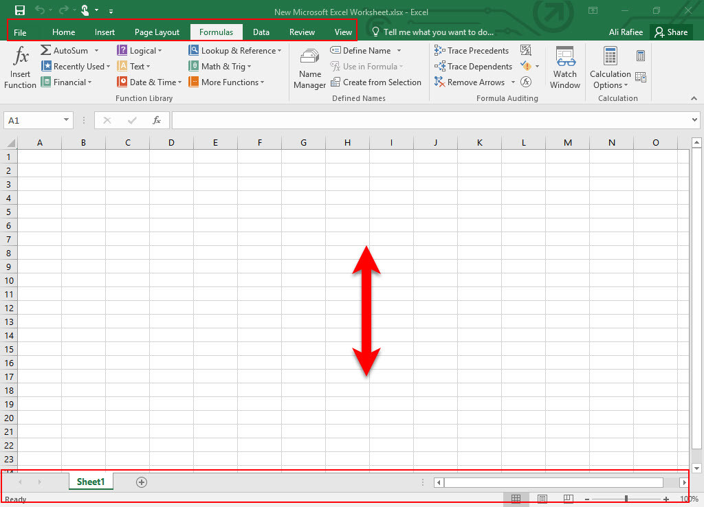 learn excel basics in microsoft office excel 2016 wikigain