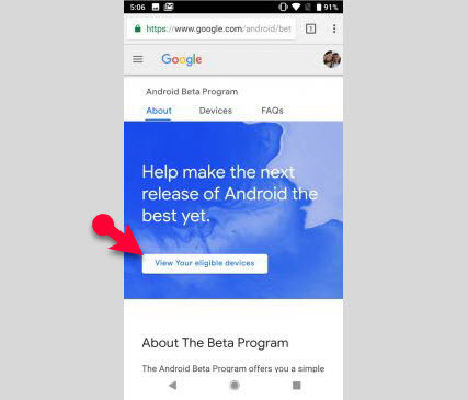 Install Android P Beta (Officially on Android Devices)