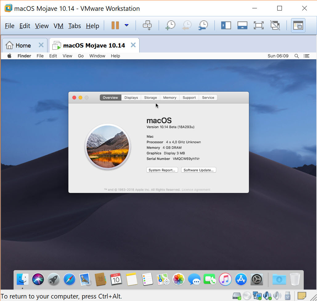 vmware free player mac