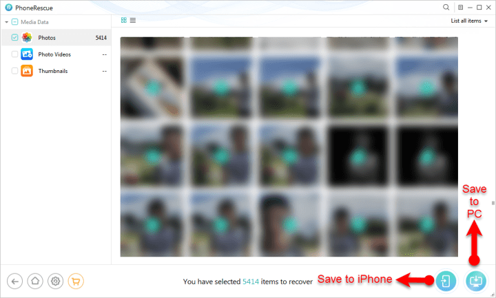 How to Recover deleted photos on iOS via PhoneRescue
