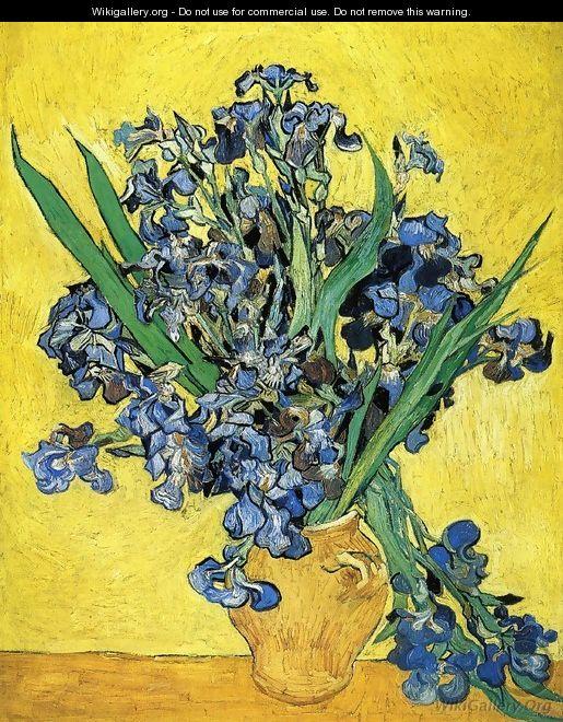 Still Life with Irises - Vincent Van Gogh