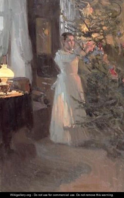 The Christmas Tree - Alexei Mikhailovich Korin