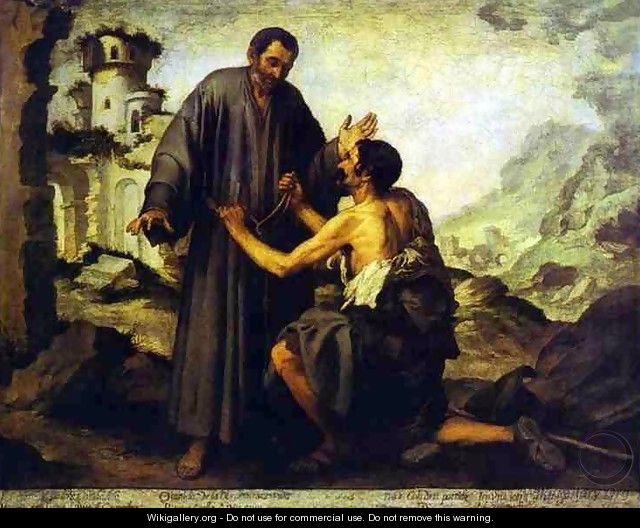 Br Juniper and the Beggar- Bartolome Esteban Murillo