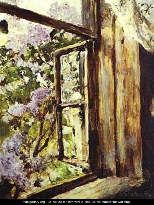 Open Window Lilacs Study 1886 - Valentin Aleksandrovich Serov