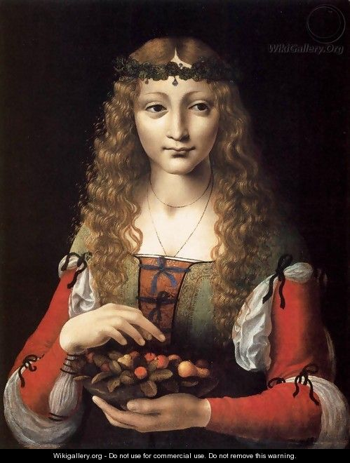 Girl with Cherries - Ambrogio de Predis
