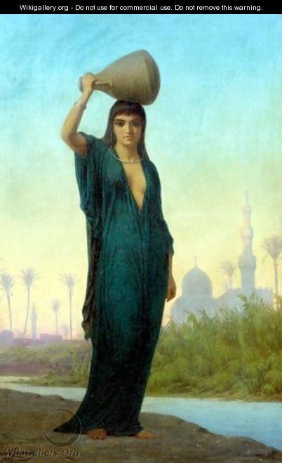 An Oriental Beauty - Charles Emile Hippolyte Lecomte-Vernet